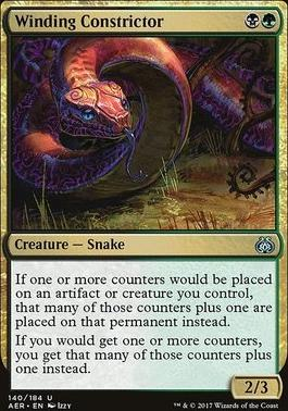 Aether Revolt Foil: Winding Constrictor