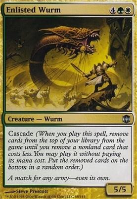 Alara Reborn Foil: Enlisted Wurm