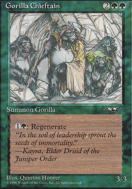 Alliances: Gorilla Chieftain (Four Gorillas)