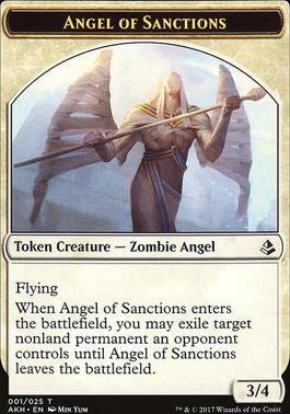 Amonkhet: Angel of Sanctions Token