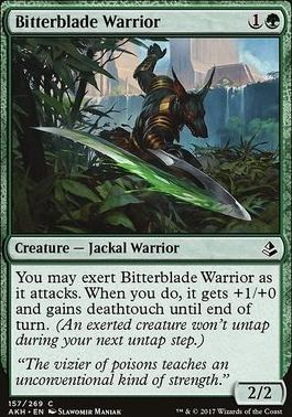 Amonkhet Foil: Bitterblade Warrior