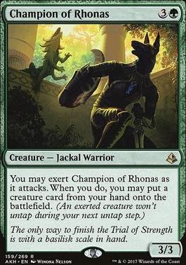 Amonkhet Foil: Champion of Rhonas