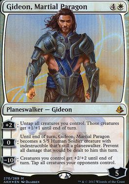 Amonkhet: Gideon, Martial Paragon (Foil - Planeswalker Deck)