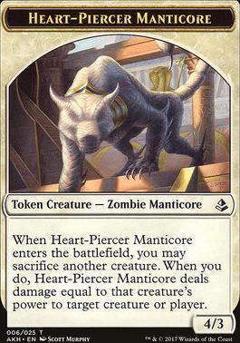 Amonkhet: Heart-Piercer Manticore Token