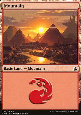 Amonkhet Foil: Mountain (264 A)