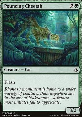 Amonkhet Foil: Pouncing Cheetah
