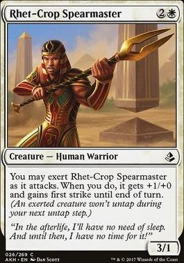 Amonkhet Foil: Rhet-Crop Spearmaster