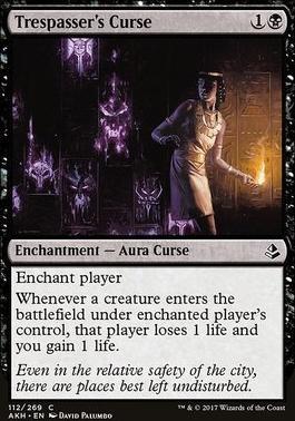 Amonkhet Foil: Trespasser's Curse