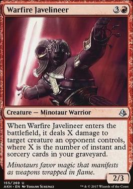 Amonkhet Foil: Warfire Javelineer