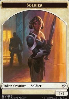Archenemy - Nicol Bolas: Beast Token - Soldier Token (004 - 001)