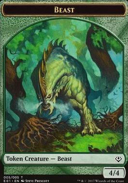 Archenemy - Nicol Bolas: Beast Token - Soldier Token (005 - 001)