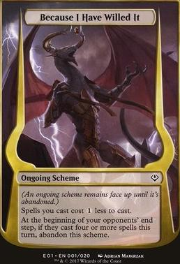 Archenemy - Nicol Bolas: Because I Have Willed It (Scheme Oversized)