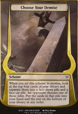 Archenemy - Nicol Bolas: Choose Your Demise (Scheme Oversized)