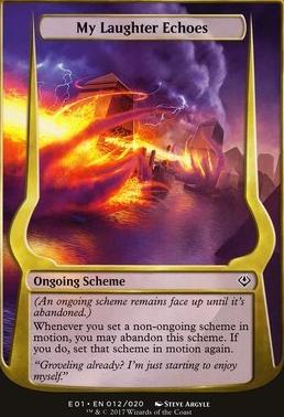 Archenemy - Nicol Bolas: My Laughter Echoes (Scheme Oversized)