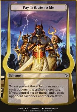 Archenemy - Nicol Bolas: Pay Tribute to Me (Scheme Oversized)