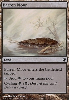 4 x BARREN MOOR NM mtg Commander 2013 Land Com