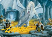 Art Series - Adventures in the Forgotten Realms - Signed: Cave of the Frost Dragon Art Card (Not Tournament Legal - Signed)