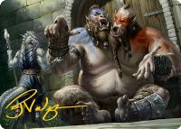 Art Series - Adventures in the Forgotten Realms - Signed: Ettin // Power of Persuasion Art Card (Not Tournament Legal - Signed)