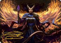 Art Series - Adventures in the Forgotten Realms - Signed: Farideh, Devil's Chosen Art Card (Not Tournament Legal - Signed)