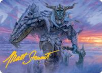 Art Series - Adventures in the Forgotten Realms - Signed: Frost Giant // Rimeshield Frost Giant Art Card (Not Tournament Legal - Signed)