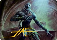 Art Series - Adventures in the Forgotten Realms - Signed: Ghoul // Sepulcher Ghoul Art Card (Not Tournament Legal - Signed)