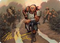 Art Series - Adventures in the Forgotten Realms - Signed: Hobgoblin Bandit Lord Art Card (Not Tournament Legal - Signed)