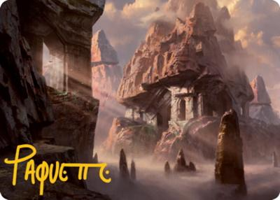Art Series - Adventures in the Forgotten Realms - Signed: Mountain Art Card (Adam Paquette - Not Tournament Legal - Signed)