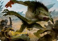 Art Series - Adventures in the Forgotten Realms - Signed: Troll // Loathsome Troll Art Card (Not Tournament Legal - Signed)