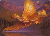 Art Series - Adventures in the Forgotten Realms: Adult Gold Dragon Art Card (Not Tournament Legal)