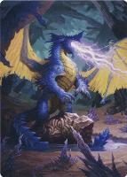 Art Series - Adventures in the Forgotten Realms: Blue Dragon Art Card (Not Tournament Legal)