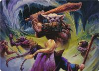 Art Series - Adventures in the Forgotten Realms: Den of the Bugbear Art Card (Jeff Easley - Not Tournament Legal)