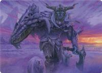 Art Series - Adventures in the Forgotten Realms: Frost Giant // Rimeshield Frost Giant Art Card (Not Tournament Legal)