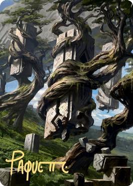 Art Series - Zendikar Rising - Signed: Forest Art Card (Adam Paquette - Not Tournament Legal - Signed)