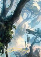 Art Series - Zendikar Rising - Signed: Forest Art Card (Sam Burley - Not Tournament Legal - Signed)