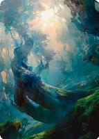 Art Series - Zendikar Rising - Signed: Forest Art Card (Tianhua X - Not Tournament Legal - Signed)