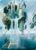Art Series - Zendikar Rising - Signed: Island Art Card (Anna Steinbauer - Not Tournament Legal - Signed)