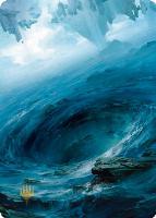 Art Series - Zendikar Rising - Signed: Island Art Card (Tianhua X - Not Tournament Legal - Signed)