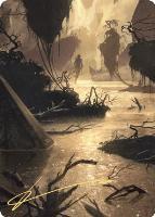 Art Series - Zendikar Rising - Signed: Murkwater Pathway Art Card (Not Tournament Legal - Signed)