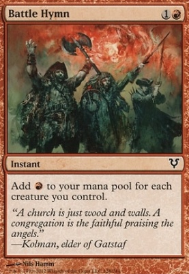 Avacyn Restored Foil: Battle Hymn