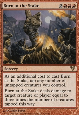Avacyn Restored Foil: Burn at the Stake