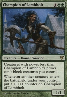 Avacyn Restored Foil: Champion of Lambholt