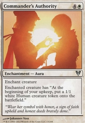 Avacyn Restored Foil: Commander's Authority