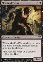 Avacyn Restored Foil: Maalfeld Twins
