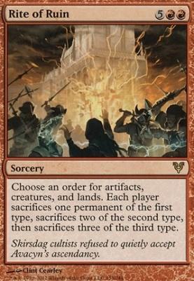 Avacyn Restored: Rite of Ruin