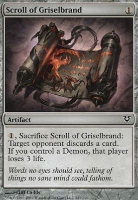 Avacyn Restored Foil: Scroll of Griselbrand