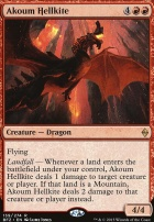 Battle for Zendikar Foil: Akoum Hellkite