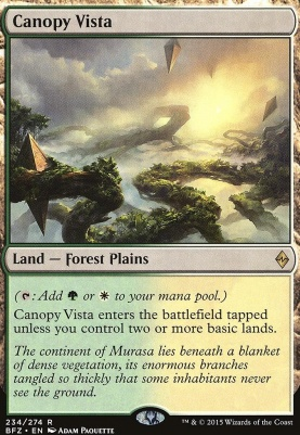 Battle for Zendikar: Canopy Vista