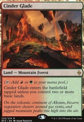 Battle for Zendikar Foil: Cinder Glade