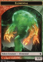 Battle for Zendikar: Elemental Token (Red/Green)
