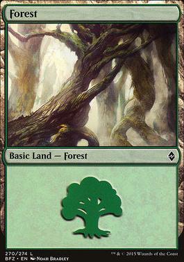 Battle for Zendikar: Forest (270 A - Non-Full Art)